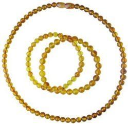 Collier perlines blond