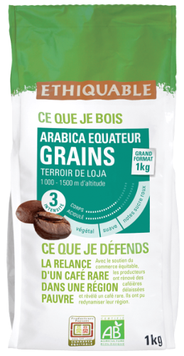 Arabica Equateur BIO, grains 1 kg