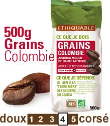 Café Colombie BIO, grains 500 g