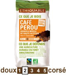 Arabica PEROU, grains 1 kg BIO