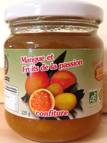 Confiture de mangue et fruits de passion BIO