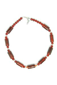 Collier sucre d'orge rouge